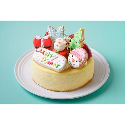 クリスマスケーキ2021 アイシングデコレーション 半熟ふわとろっチーズ5号 【数量限定】【クリスマス2021】完売の際はご了承ください
