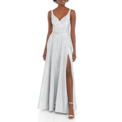 ビーダーリン レディース ワンピース トップス Women's Sleeveless Deep V-Neck Glitter Ballgown