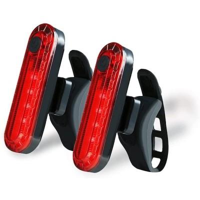 テールライト サイクリング セーフティライト LEDライト 2個セット USB充電 自転車ライト バイク リアバイクライト 軽量 汎用 IPX4防水