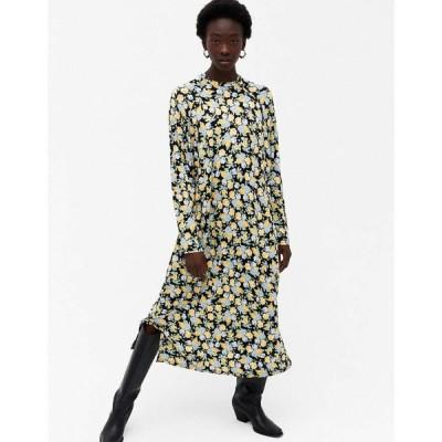 モンキ Monki レディース ワンピース ワンピース・ドレス Pia Floral Print Long Sleeve Midi Dress In Multi フローラル