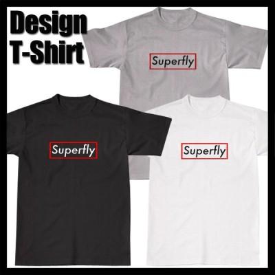 Superfly Box LOGO T-シャツ Tシャツ パロディ スーパーフライ ダンス ダンサー 衣装 春 夏 人気 メンズ レディース