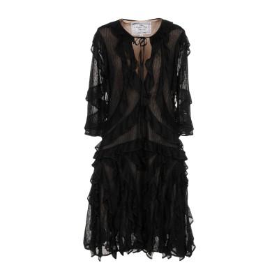 ディースクエアード DSQUARED2 ミニワンピース&ドレス ブラック S 100% レーヨン ミニワンピース&ドレス