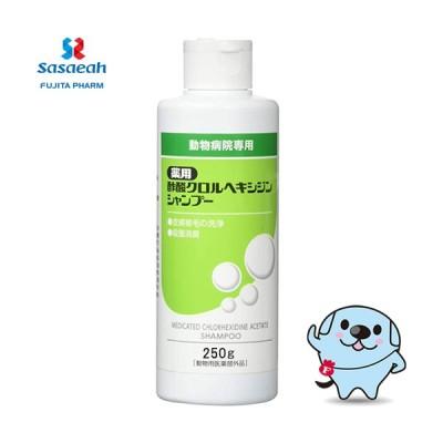 薬用酢酸クロルヘキシジンシャンプー 犬猫用 250g *ささえあ製薬 フジタ製薬