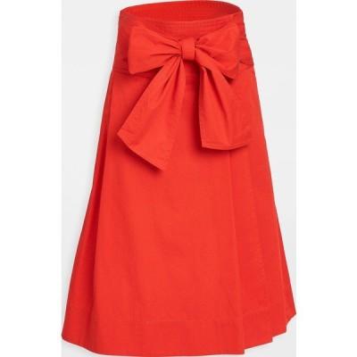 (取寄)トリーバーチ レディース コットン ラップ スカート Tory Burch Women's Cotton Wrap Skirt Red