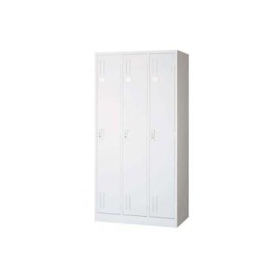 オフィスロッカー スチールロッカー ロッカー 収納 職場 オフィス 棚 鍵付き 貴重品 3人用 3連 ホワイト 白 カバン バッグ
