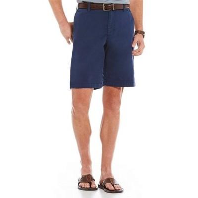 """トッミーバハマ メンズ ハーフパンツ・ショーツ ボトムス Flat-Front Straight-Fit Stretch Sateen 10"""" Inseam Boracay Shorts"""
