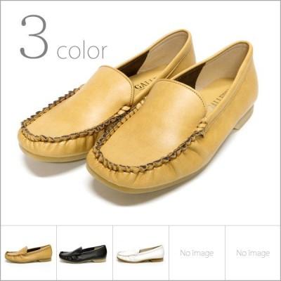 パンプス カジュアル ぺたんこ ローヒール モカ デッキシューズ スリッポン 走れるパンプス 痛くない 歩きやすい 日本製 靴 レディース