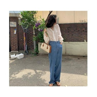 From Beginning レディース ジーンズ Slup Wide Date Denim Pants