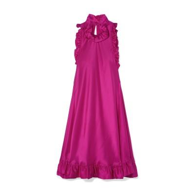 LES RÊVERIES ミニワンピース&ドレス フューシャ 0 シルク 100% ミニワンピース&ドレス