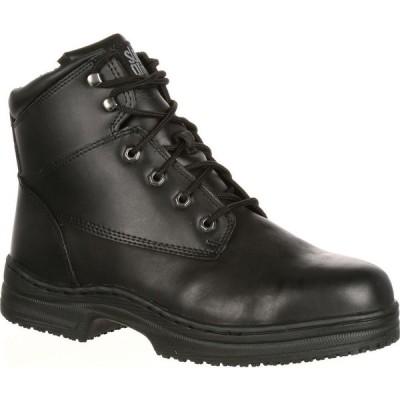 リーハイアウトフィッターズ Lehigh Outfitters メンズ ブーツ ワークブーツ シューズ・靴 SlipGrips Steel Toe Slip-Resistant Work Boot black