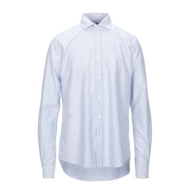 PORTOFIORI シャツ ブルー 42 コットン 100% シャツ