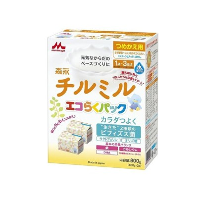 森永乳業 チルミル エコらくパック 詰替え 400g×2袋(粉ミルク)