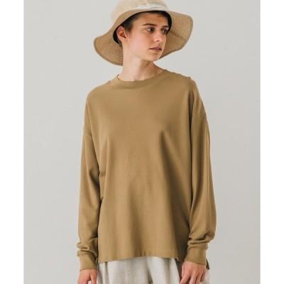 tシャツ Tシャツ 【handvaerk】クルーネック 長袖ピケTシャツ WOMEN