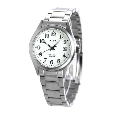 ALBA チタン AQGJ406 プレゼント付き 国内正規品 全面ルミブライト メンズ 腕時計