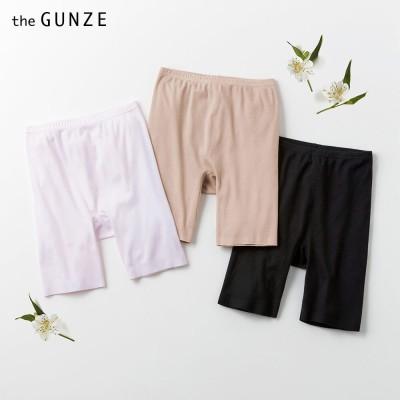 GUNZE グンゼ the GUNZE(ザグンゼ) 【SEAMLESS】3分丈(ひざ上丈)(レディース)【まとめ買い対象】 ブラック L