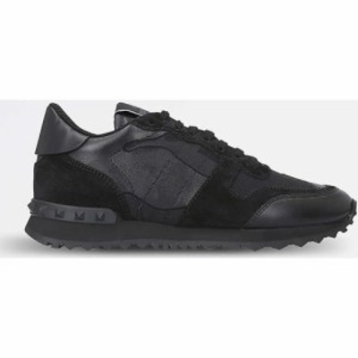 ヴァレンティノ VALENTINO GARAVANI レディース スニーカー シューズ・靴 Camouflage-print leather trainers BLACK