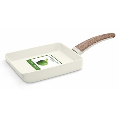 GreenPan グリーンパン 「 ウッドビー 」 エッグパン(玉子焼き器) 14x18cm  ヘルシーセラミックノンスティック WoodB