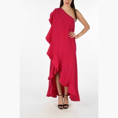 GIVENCHY/ジバンシィ ドレス Pink レディース 春夏2019 silk ruffled 1-shoulder dress dk