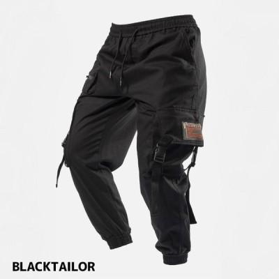 BLACK TAILOR ブラックテイラー C16 CARGO スト系 ストリート メンズ カーゴパンツ ジョガーパンツ メンズファッション 黒