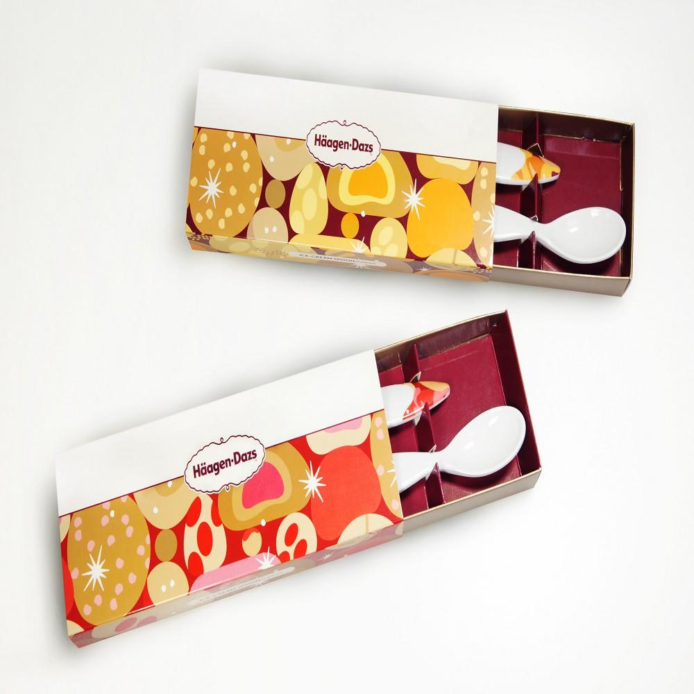 【活動品勿下單】哈根達斯暖心真摯冰淇淋對匙禮盒(顏色隨機出貨)