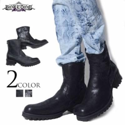 送料無料 ブーツ メンズ BOREDOM ボアダム 厚底ショートブーツ 即日発送 メンズ靴 ショートブーツ V系 visual系 ヴィジュアル系 ビジュア