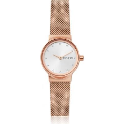 スカーゲン Skagen レディース 腕時計 Freja Rose Gold-Tone Steel-Mesh Watch Rose gold