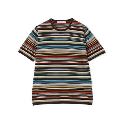 ニット ESTNATION / マルチボーダーニットTシャツ