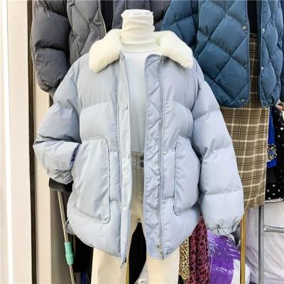 中綿コートレディースショート丈軽い冬服厚手アウターダウン風コート中綿ジャケット 暖かい  スリム防寒