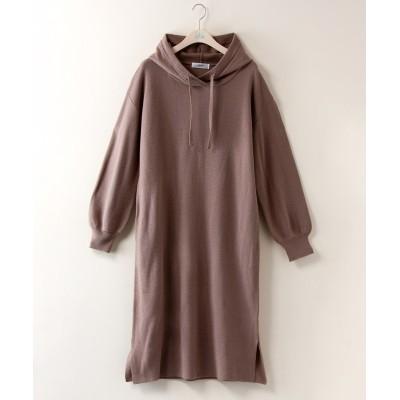 大きいサイズ パーカーニットワンピース【JINTY】 ,スマイルランド, ワンピース, plus size dress