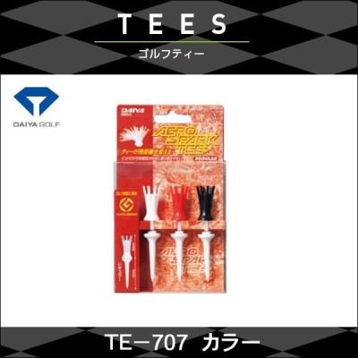 週替わりセール 4個までネコポス送料200円  DAIYA ダイヤ GOLF エアロスパークティー TE-707 レギュラー カラー ゴルフアクセサリー <ネコポス>
