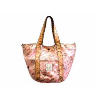 GARCIA MARQUEZ monogram pattern frill tote bag (ガルシアマルケス モノグラム パターン フリル トート バッグ) 064066【中古】