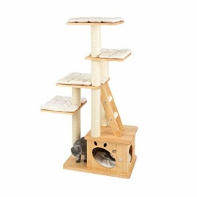 JIANXIN スクラッチポスト、猫の木、猫スクラッチポスト、木製キャットクラ(中古品)