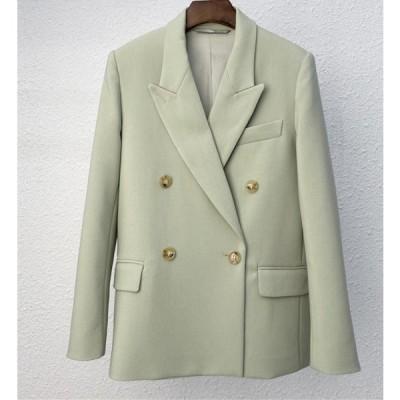 テーラードジャケット アウター 大きいサイズ ビジネス ひんやりカラー ゆったり 無地 クール かっこいい きちんと感 レディ ハンサム