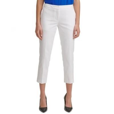 カルバンクライン カジュアルパンツ ボトムス レディース X-fit Slim-Leg Ankle Pants White