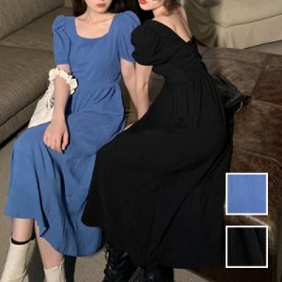 韓国 ファッション レディース ワンピース 春 夏 カジュアル naloK443  バックコンシャス 肌見せ Aライン リゾート シンプル コーデ 定番