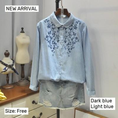 シャツ ブラウス レディース トップス 長袖 体型カバー 大きいサイズ 春新作 ゆったり