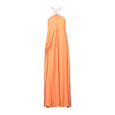 WEILI ZHENG ロングワンピース&ドレス オレンジ S ポリエステル 100% ロングワンピース&ドレス