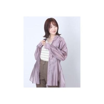 リネーム Rename ボーダー柄ノースリーブトップス (ベージュ×ホワイト)