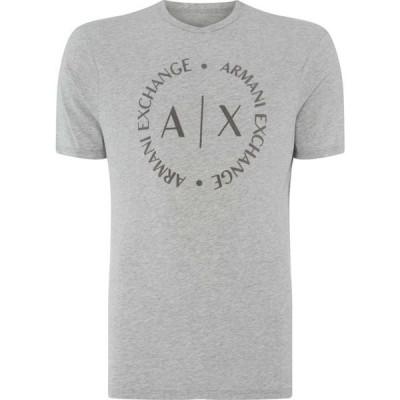アルマーニ Armani Exchange メンズ Tシャツ ロゴTシャツ トップス Round Logo T Shirt Grey Marl