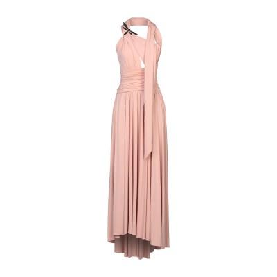 W LES FEMMES by BABYLON ロングワンピース&ドレス ピンク 40 キュプラ 92% / ポリウレタン 8% ロングワンピース&