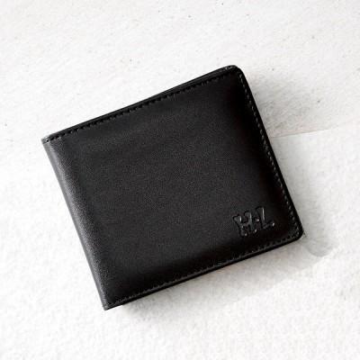 アッシュエル 二つ折財布 ブラック S-HLM15374BK 財布・小物