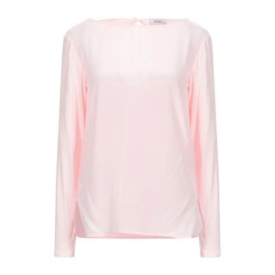 MAX & CO. T シャツ ピンク M レーヨン 98% / ポリウレタン 2% / シルク T シャツ