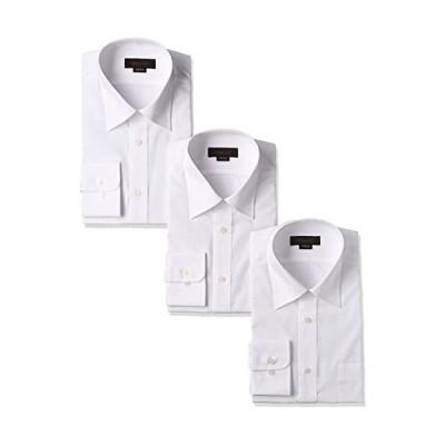 スティングロード-STINGROAD-形態安定加工ノーアイロン綿高率白長袖レギュラーカラードレスシャツ3枚セット-MA1112-AM-3-41-82
