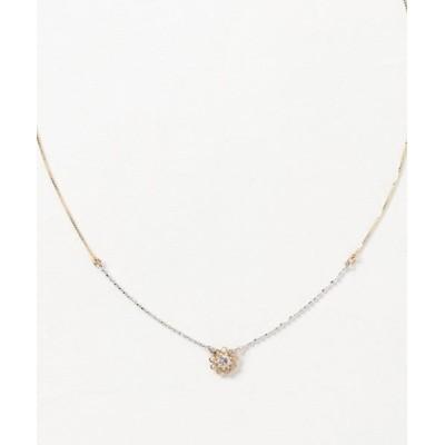 con affetto / K18/K18WGダイヤフラワーネックレス WOMEN アクセサリー > ネックレス