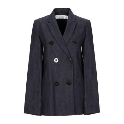VICTORIA, VICTORIA BECKHAM テーラードジャケット ブルー 6 コットン 88% / 麻 12% テーラードジャケット