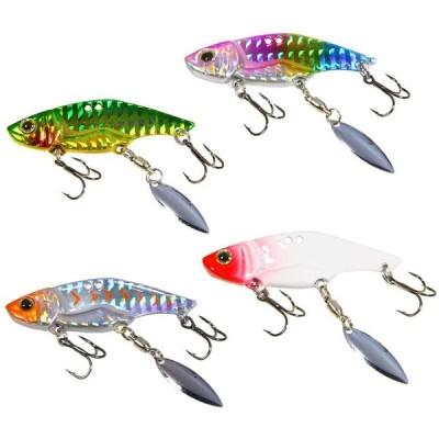 DOITPE 4個釣りジグスプーン釣りルアーメタルジグルアーロングキャスティング スイムベイトシンキングベイトルアー (Color B, 5cm/1