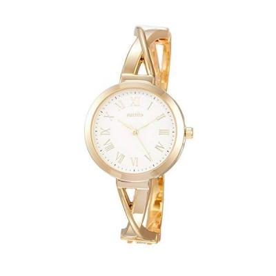 腕時計 アナログ クロバン バングルウォッチ 白 文字盤 ST244-2 レディース ゴールド