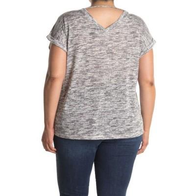 ボベー レディース Tシャツ トップス Short Sleeve Double V Caty Top BLACK/WHITE