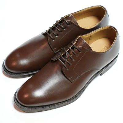 日本製グッドイヤーウエルト紳士靴 ショーンハイト 外羽根プレーントウ(SH111-4)革底 ブラウン