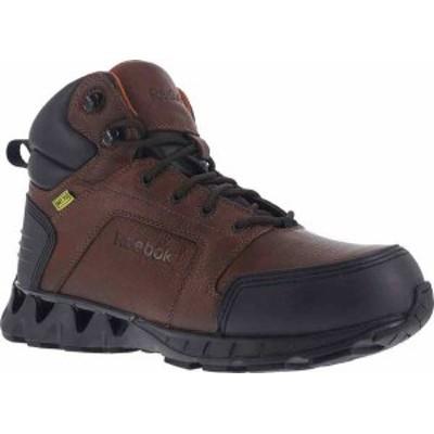 リーボック メンズ ブーツ・レインブーツ シューズ Men's Reebok Work Zigkick RB7605 Work Boot Dark Brown Leather